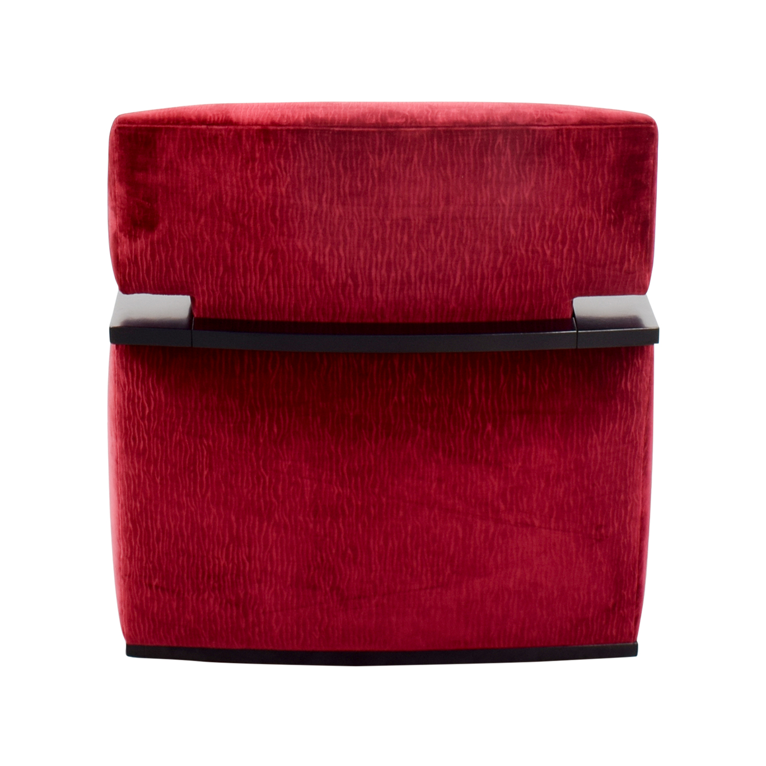 Red Arm Chair with Black Accents Chairs