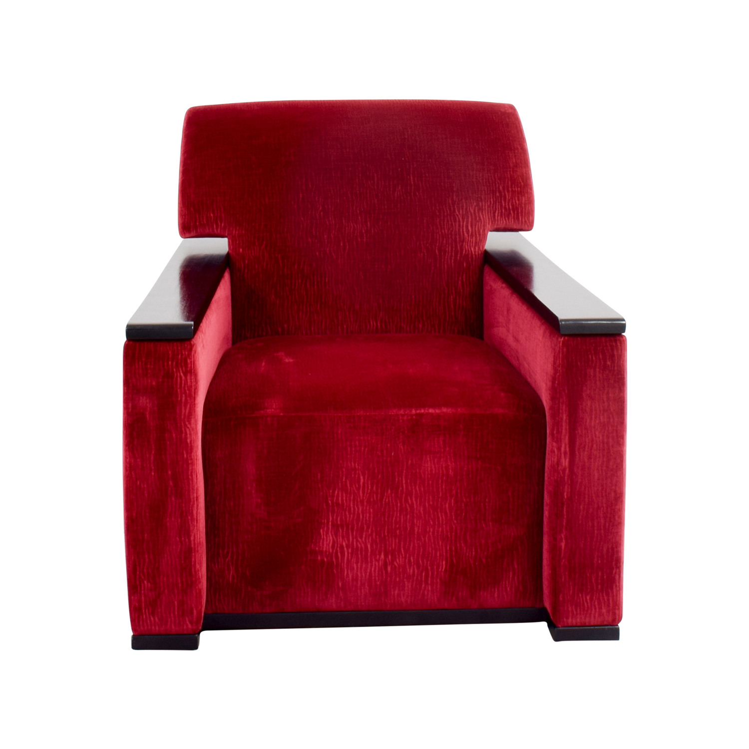 Red Arm Chair With Black Accents Used