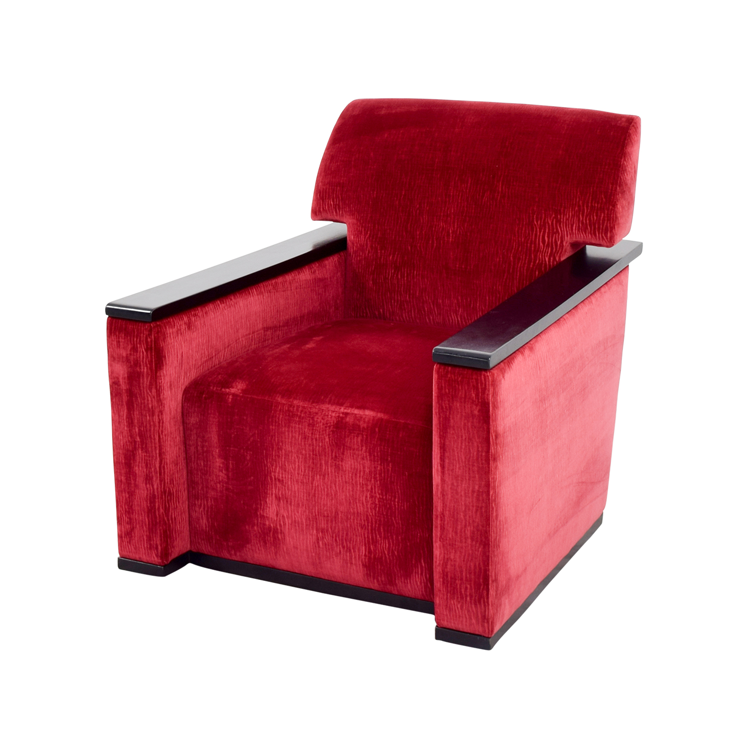 90 off red arm chair with black accents chairs for Furniture 90 off
