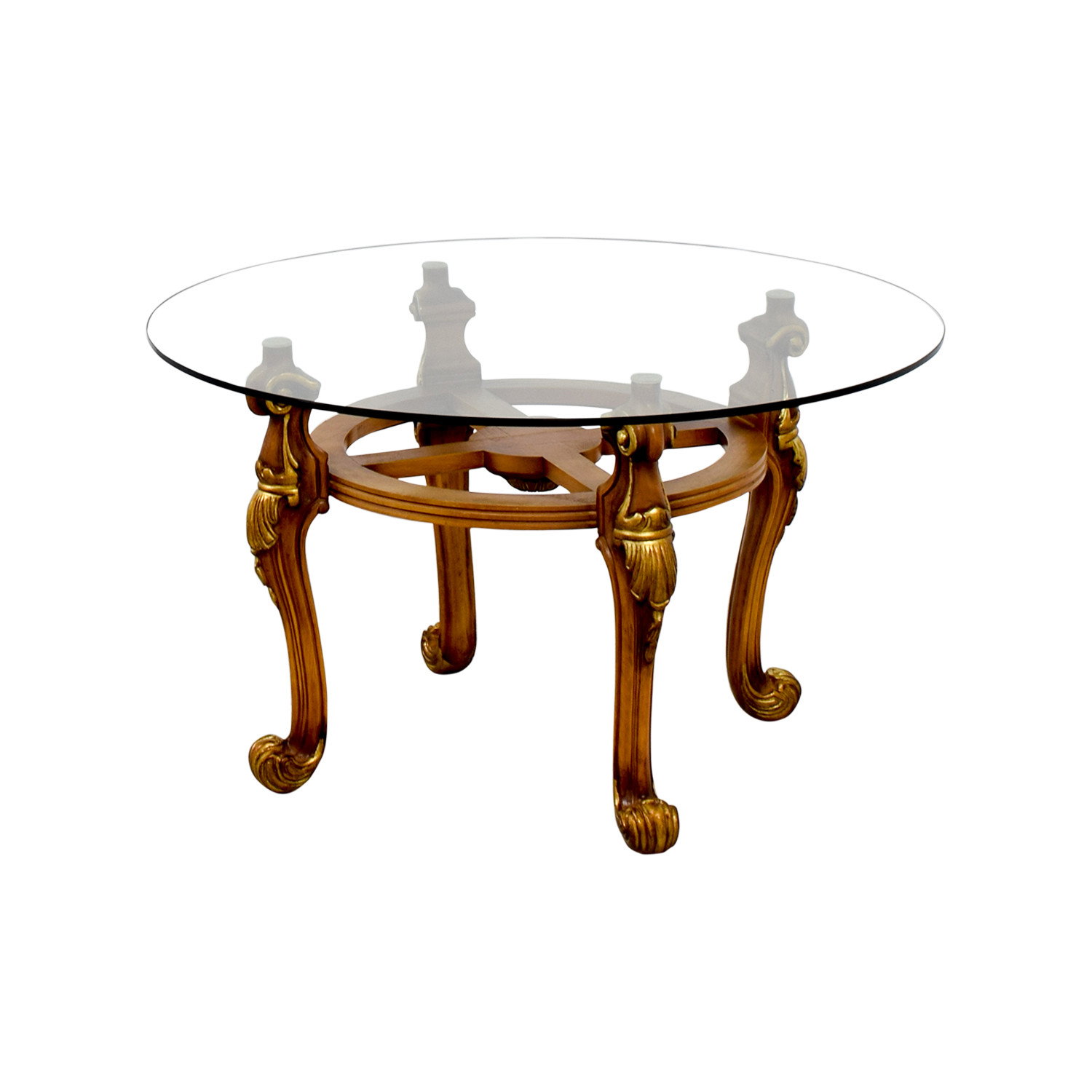 90 off glass coffee table tables Used glass coffee table