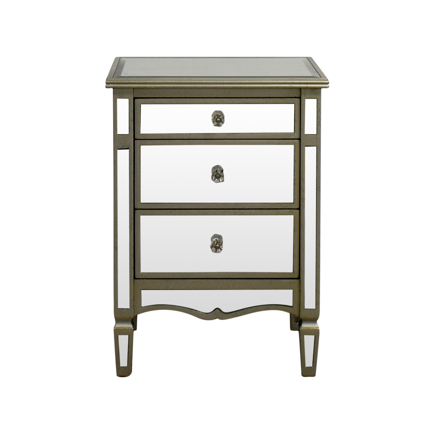 JC Penny JC Penny Mirrored Three-Drawer Nightstand for sale