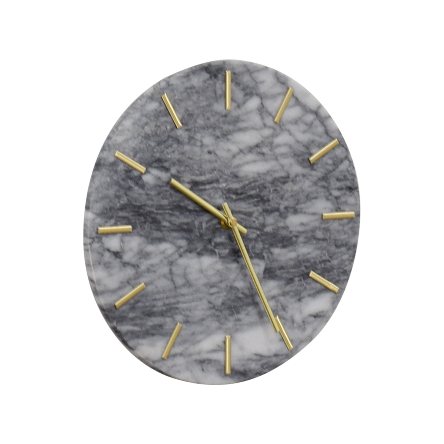 CB2 CB2 Carlo Marble and Brass Wall Clock nj
