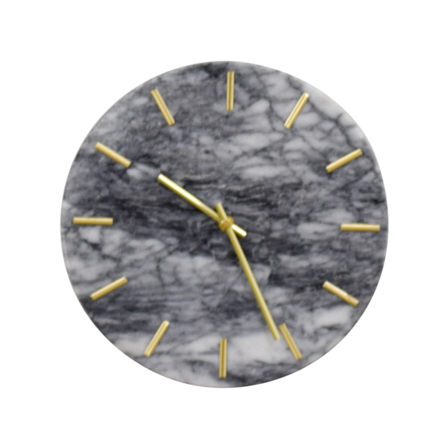 CB2 CB2 Carlo Marble and Brass Wall Clock dimensions