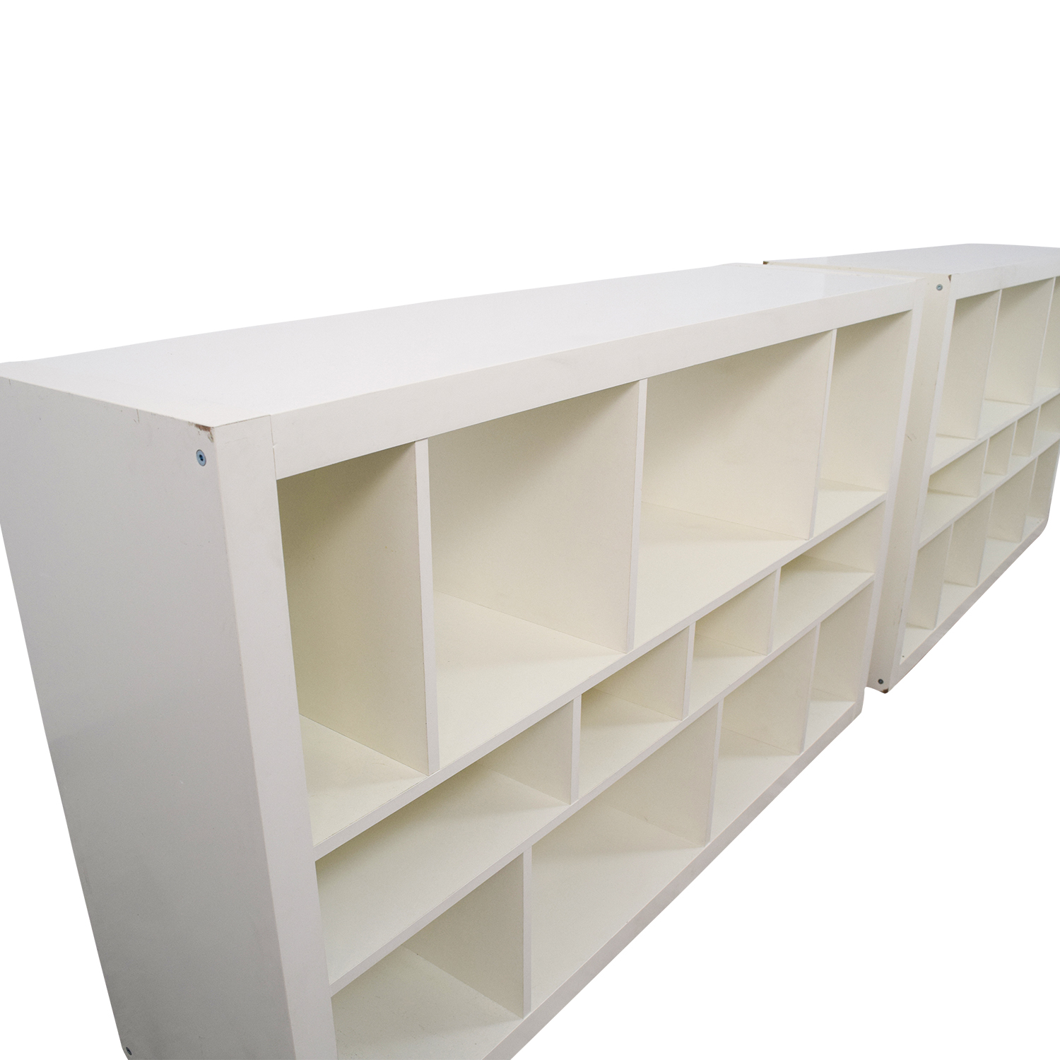 64 off ikea ikea kallax white shelf units storage. Black Bedroom Furniture Sets. Home Design Ideas