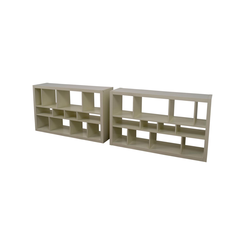 64 off ikea ikea kallax white shelf units storage. Black Bedroom Furniture Sets. Home Design Ideas