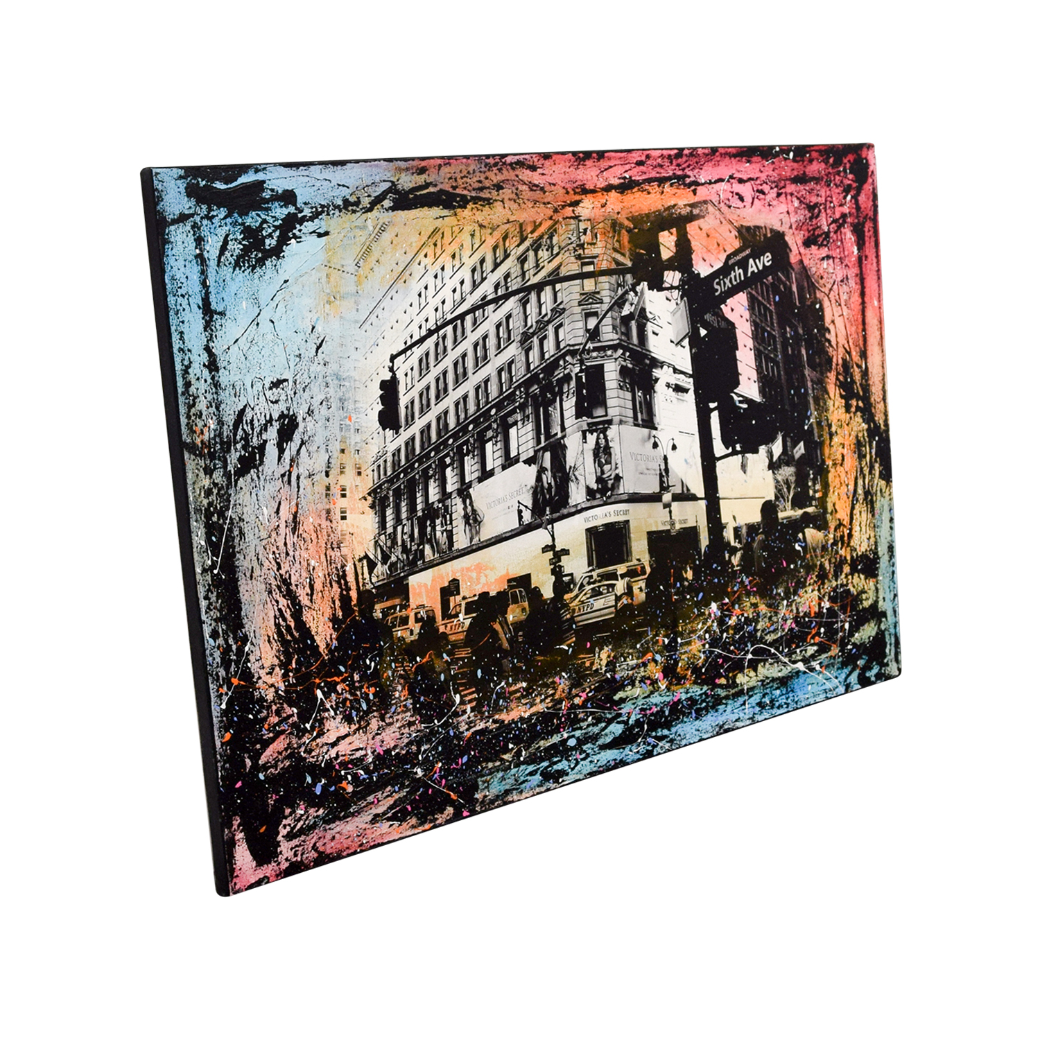 Herald Square Splatter Painting by Brooklyn Artist