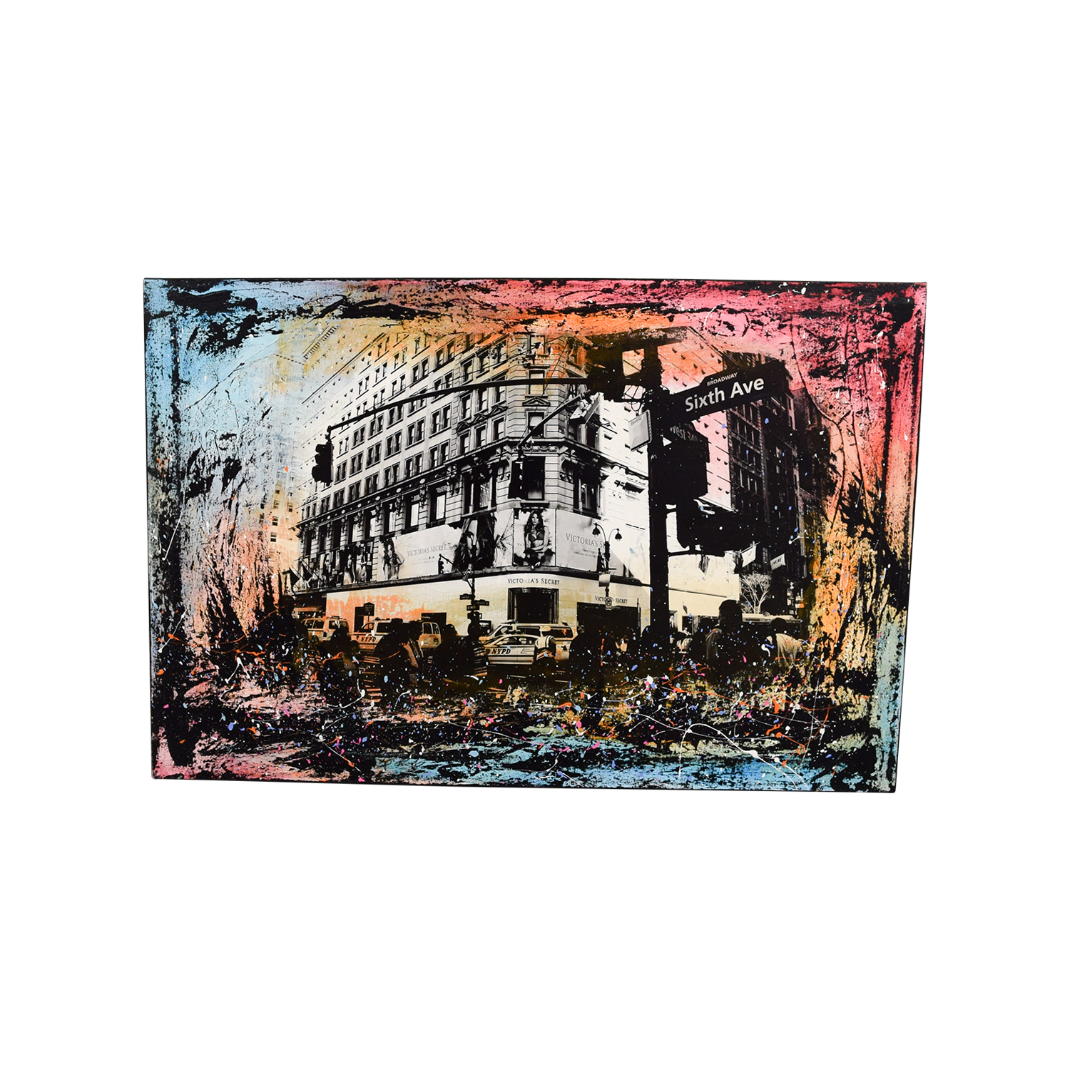 shop Herald Square Splatter Painting by Brooklyn Artist online