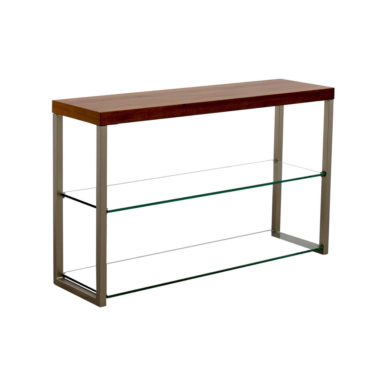 88 off boconcept boconcept wood glass and metal media. Black Bedroom Furniture Sets. Home Design Ideas