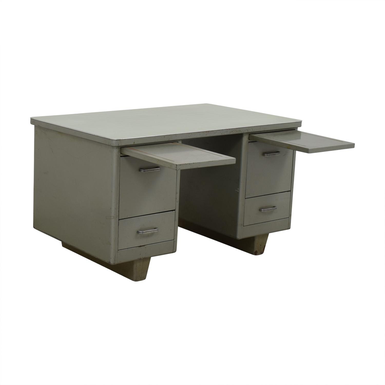 89 Off Vintage Tanker Desk Tables