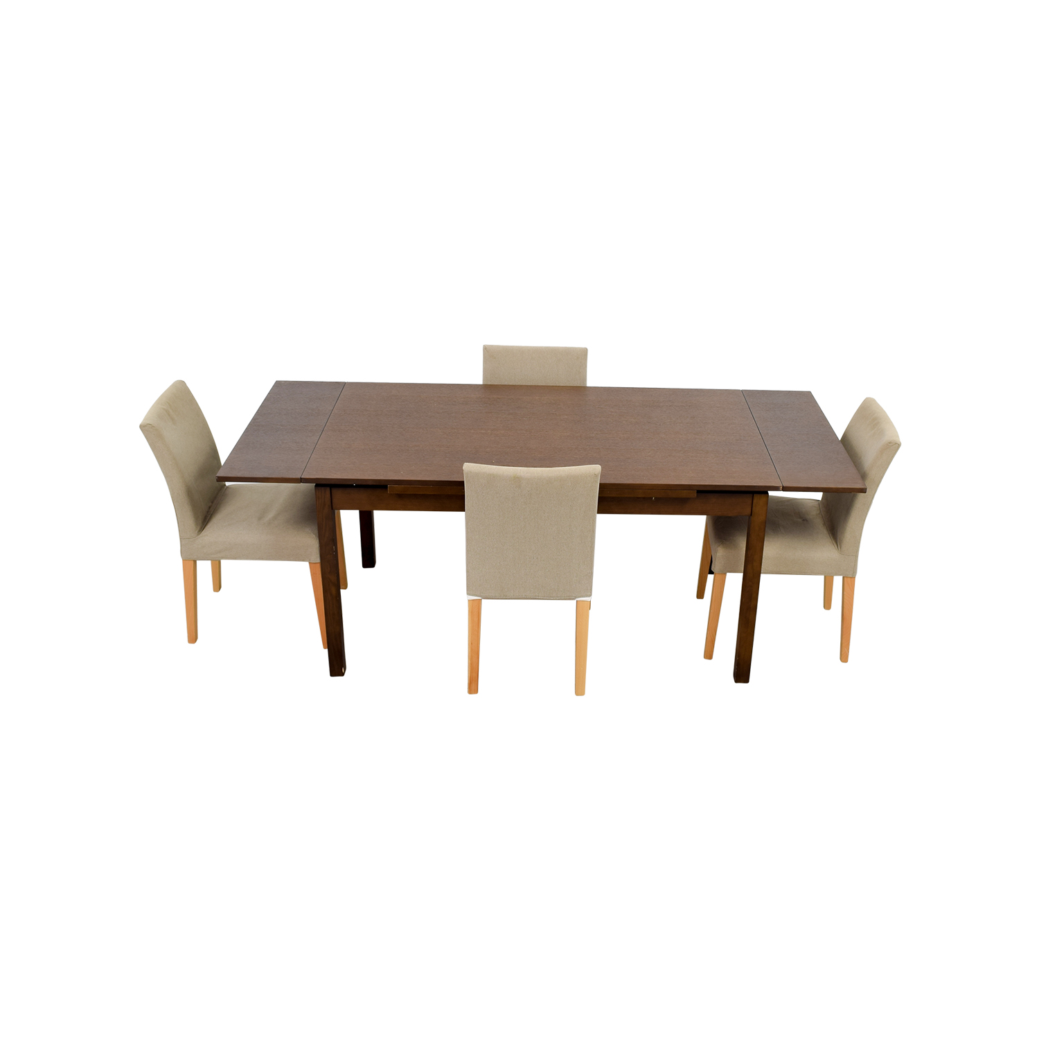 73% OFF - Muji Muji Extendable Dining Table with Chairs / Tables