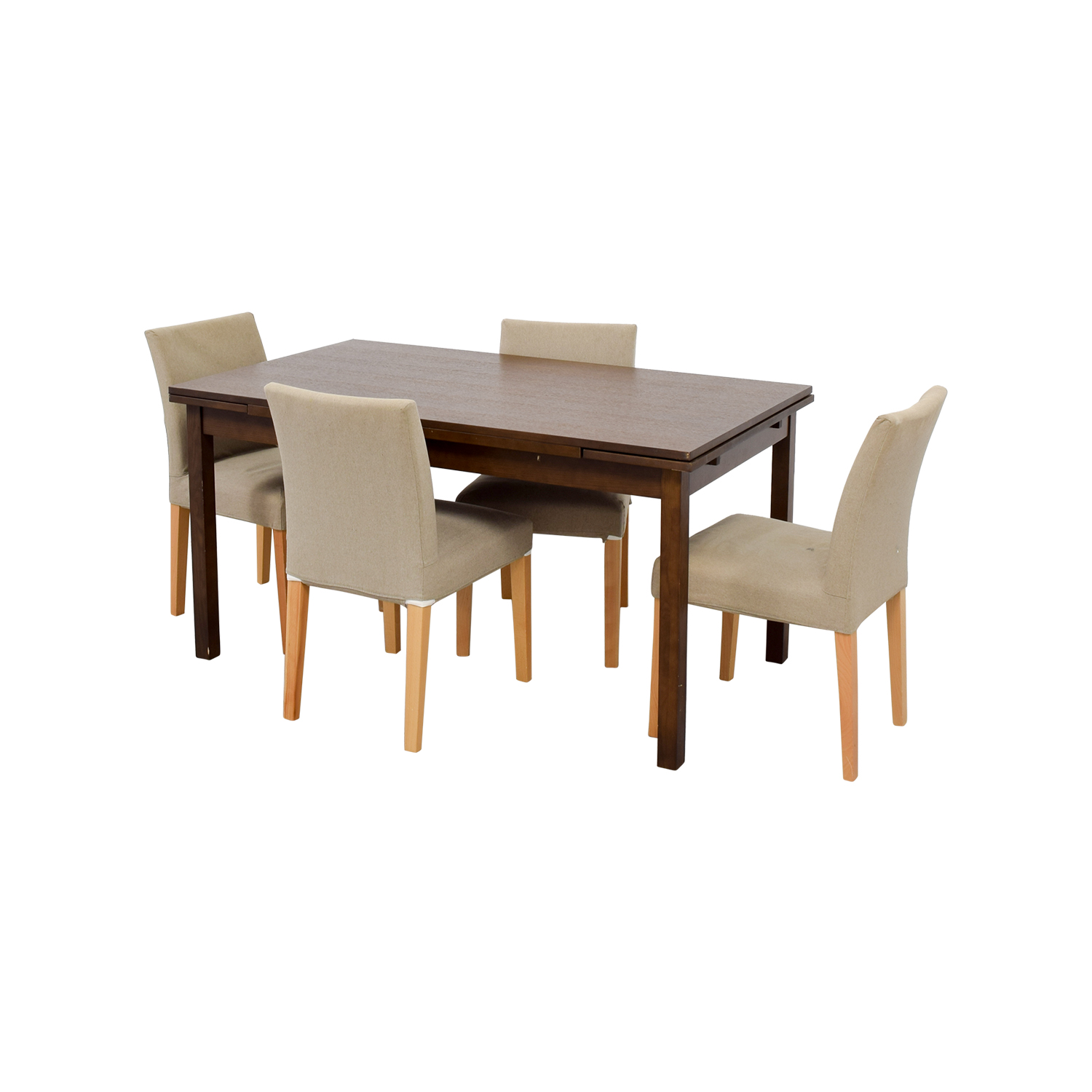 73 OFF Muji Muji Extendable Dining Table with Chairs  : second hand muji extendable dining table with chairs from www.furnishare.com size 1500 x 1500 jpeg 409kB