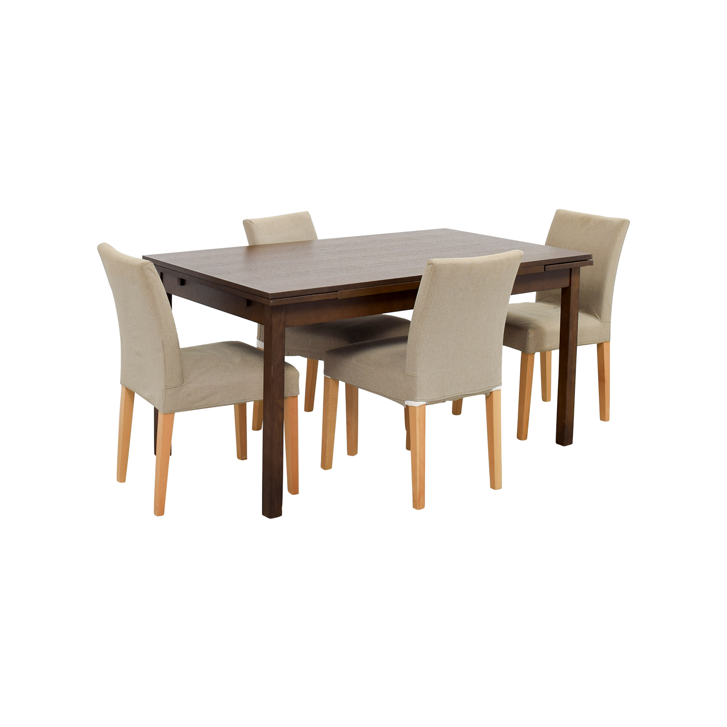 73 off muji muji extendable dining table with chairs tables. Black Bedroom Furniture Sets. Home Design Ideas