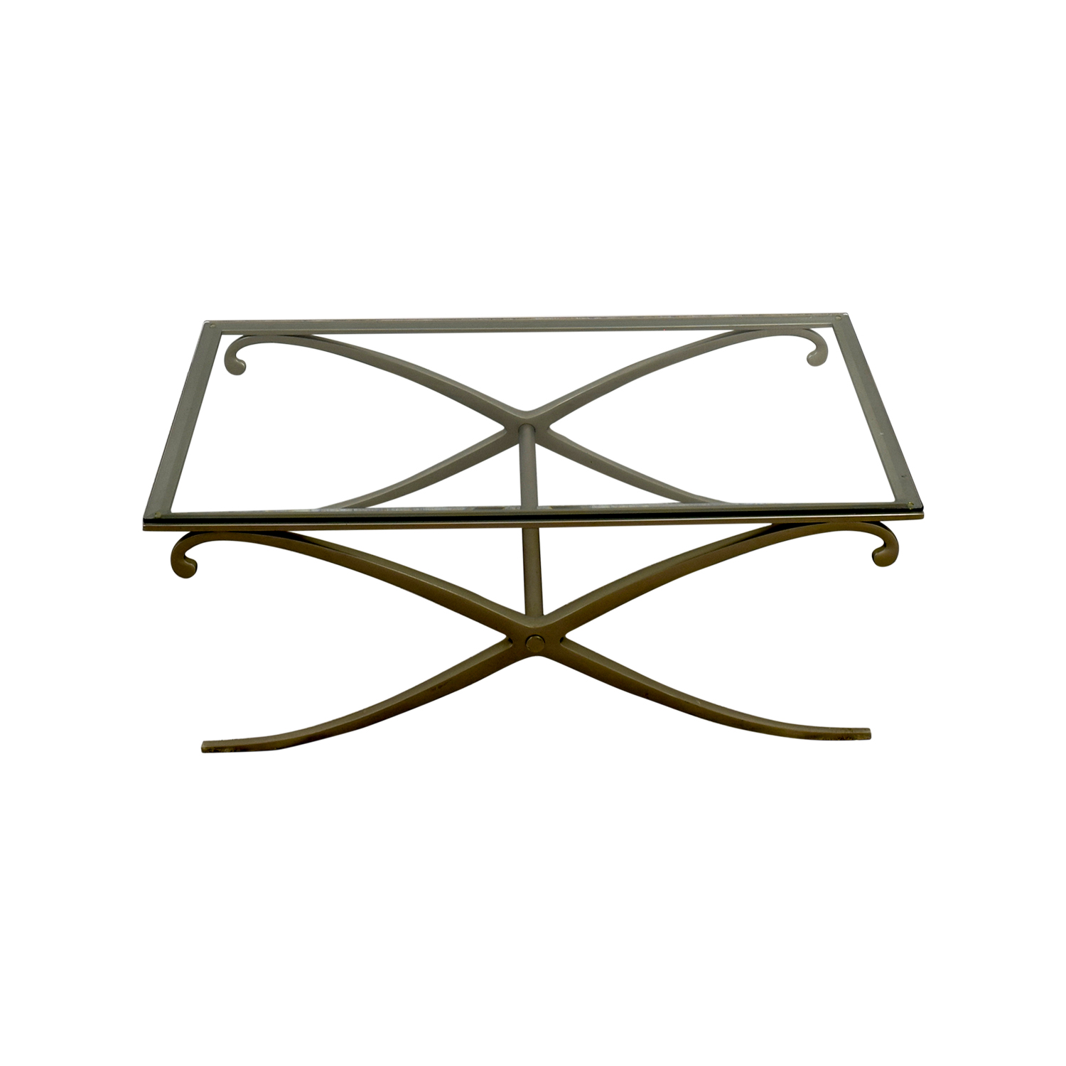 70% OFF Pottery Barn Pottery Barn Glass Top Coffee Table Tables
