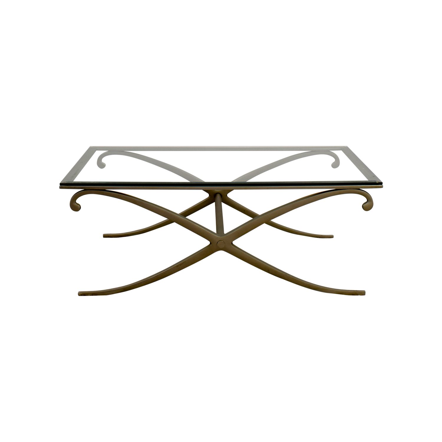 Glass and Pewter Coffee Table discount