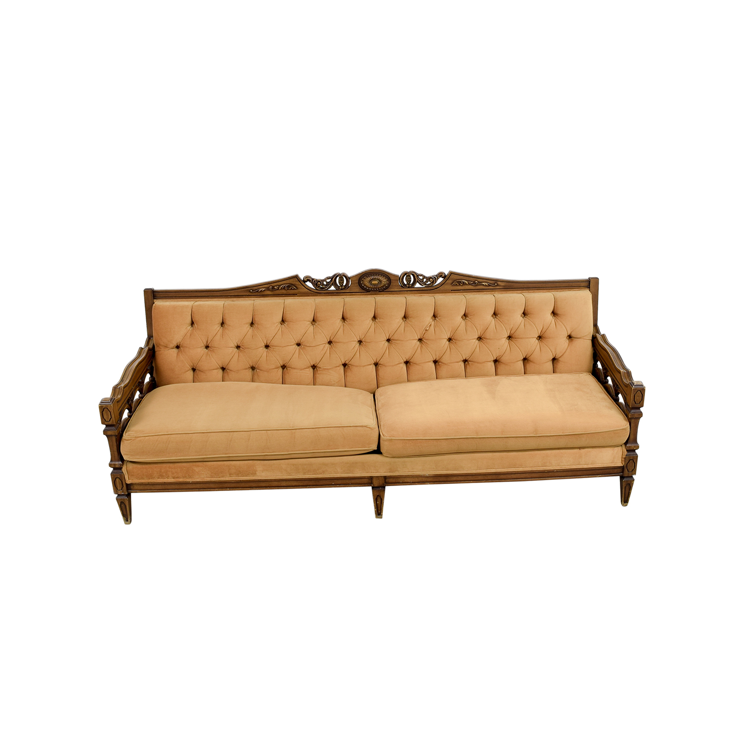 shop Vintage Tufted Beige Sofa