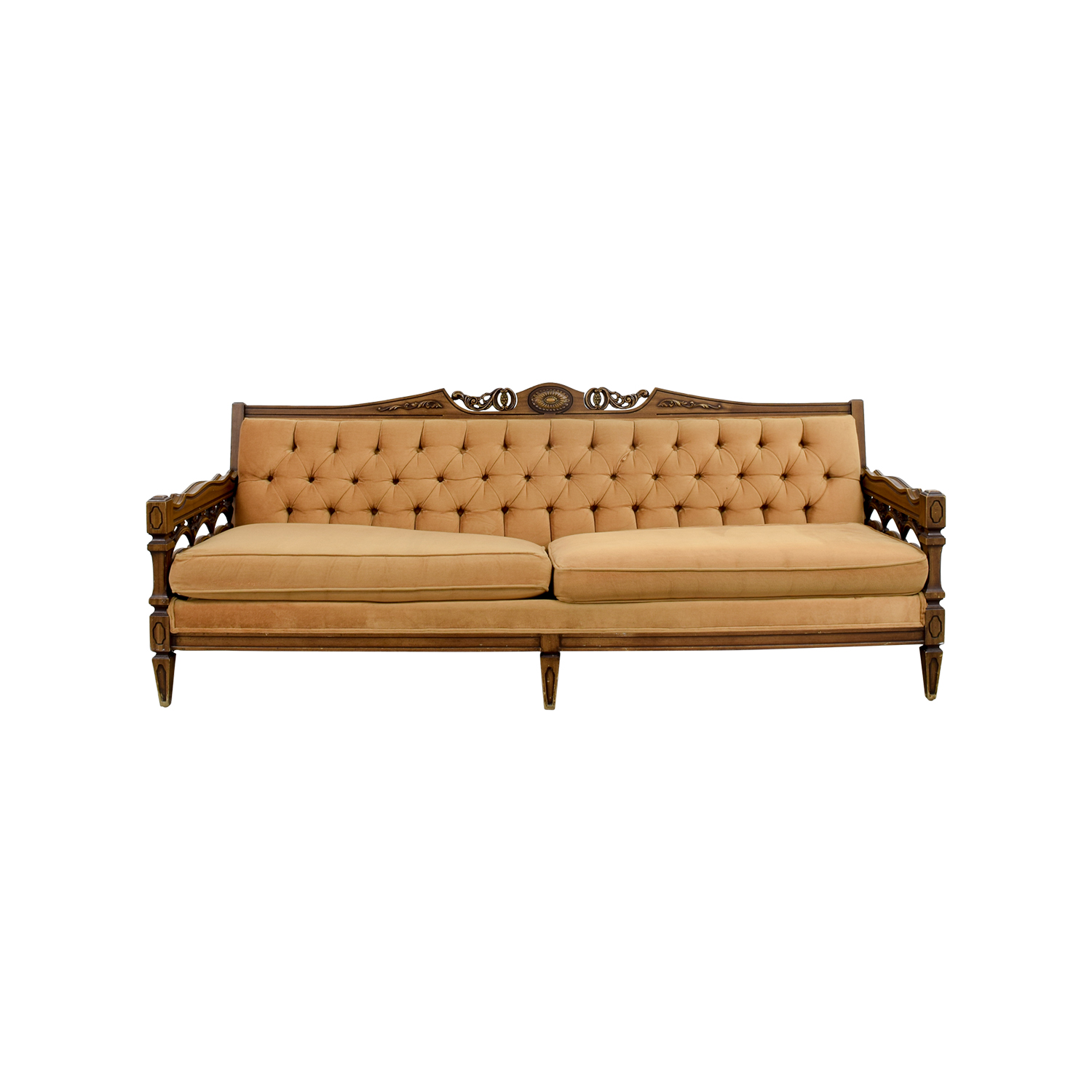 Vintage Tufted Beige Sofa used