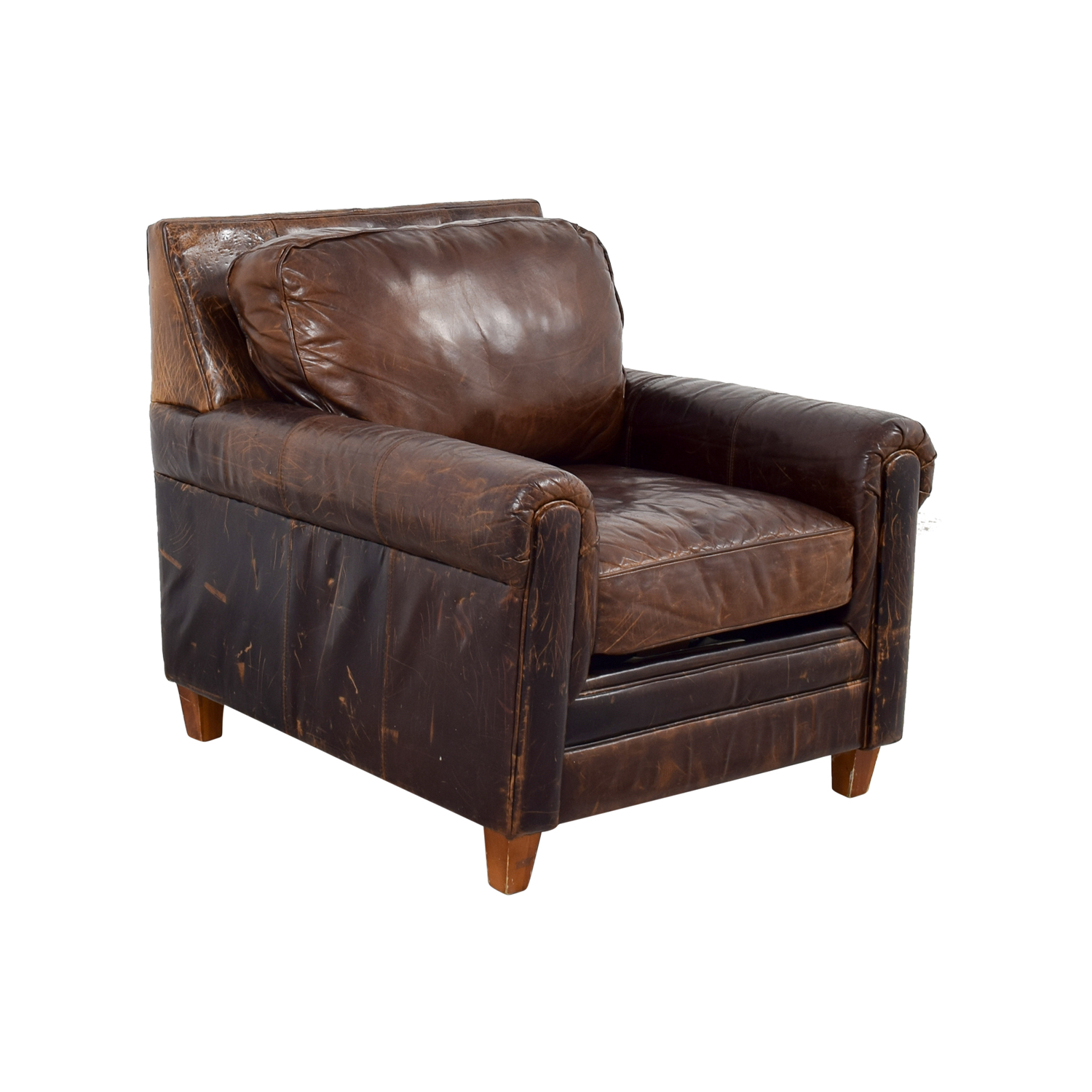 ... Buy Jennifer Convertibles Leather Arm Chair Jennifer Convertibles  Accent Chairs ...