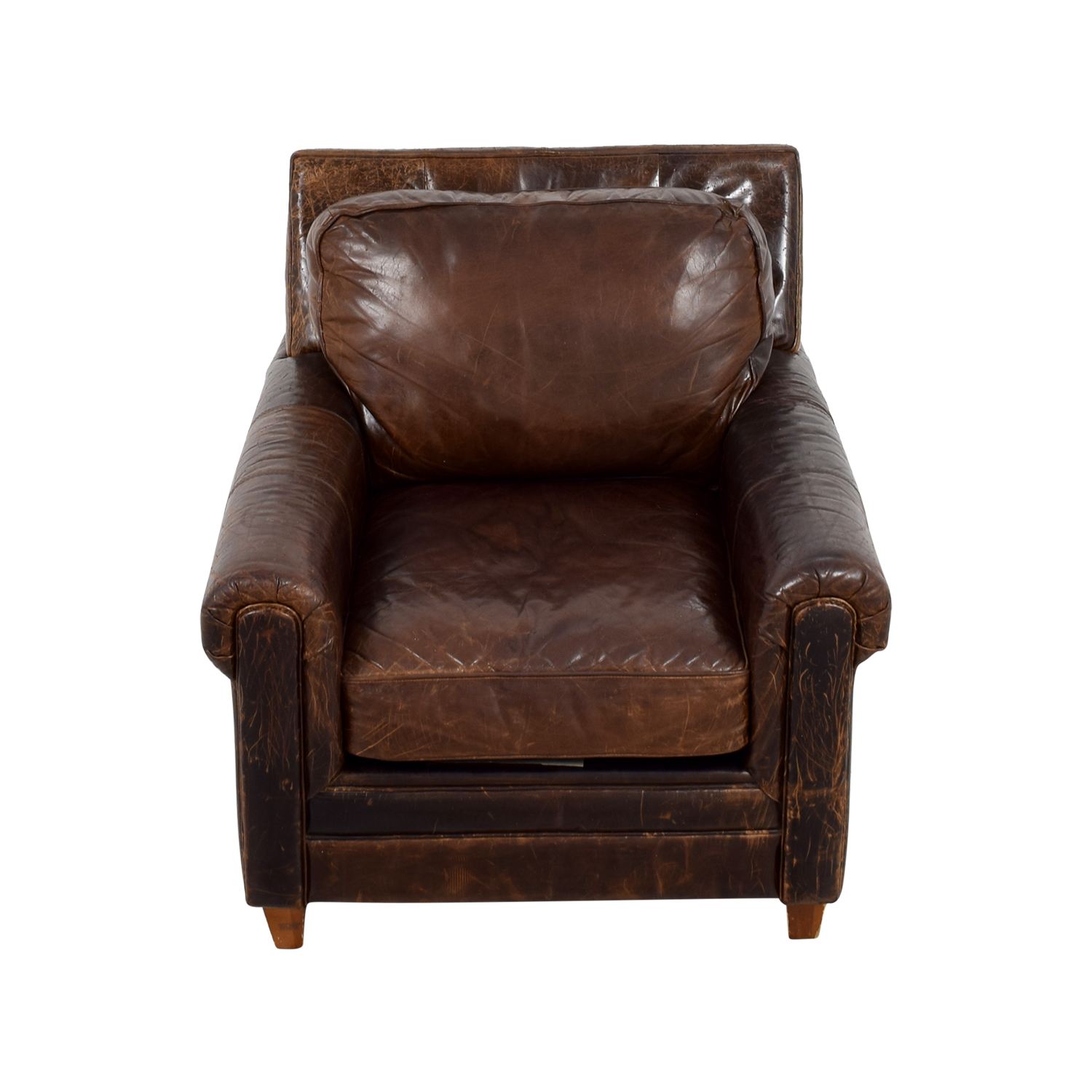 Jennifer Convertibles Leather Arm Chair sale