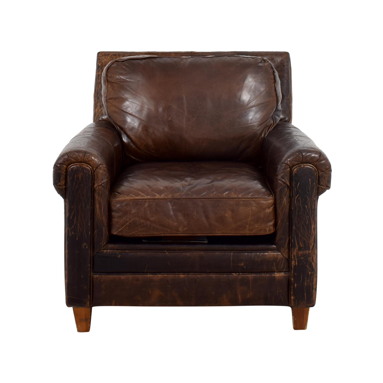 Jennifer Convertibles Jennifer Convertibles Leather Arm Chair for sale
