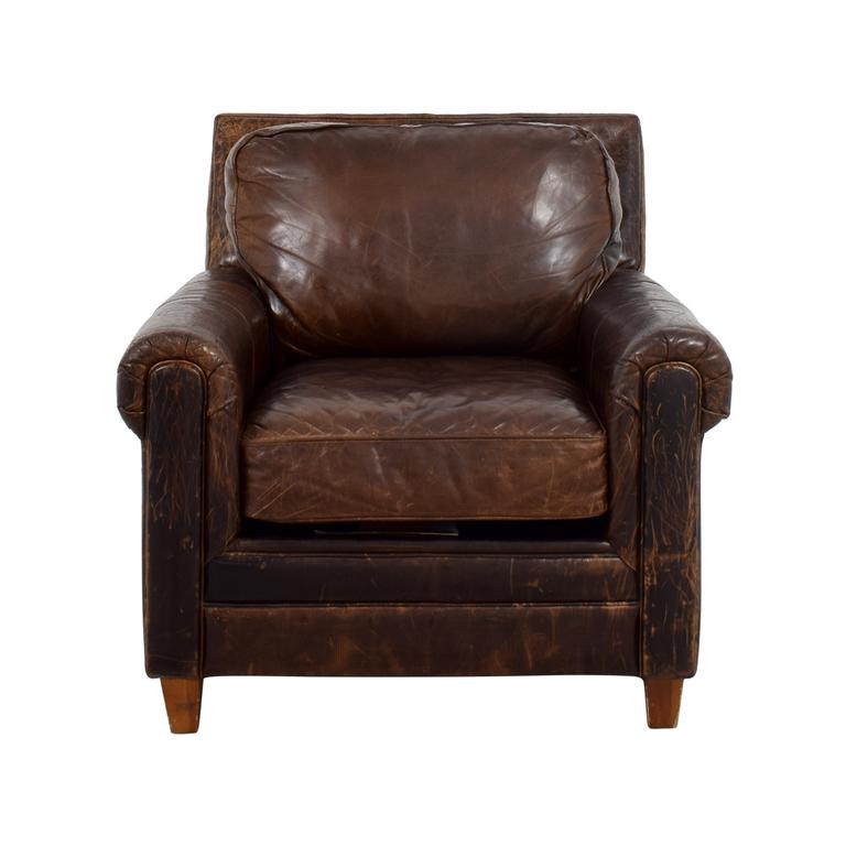 Jennifer Convertibles Leather Arm Chair sale