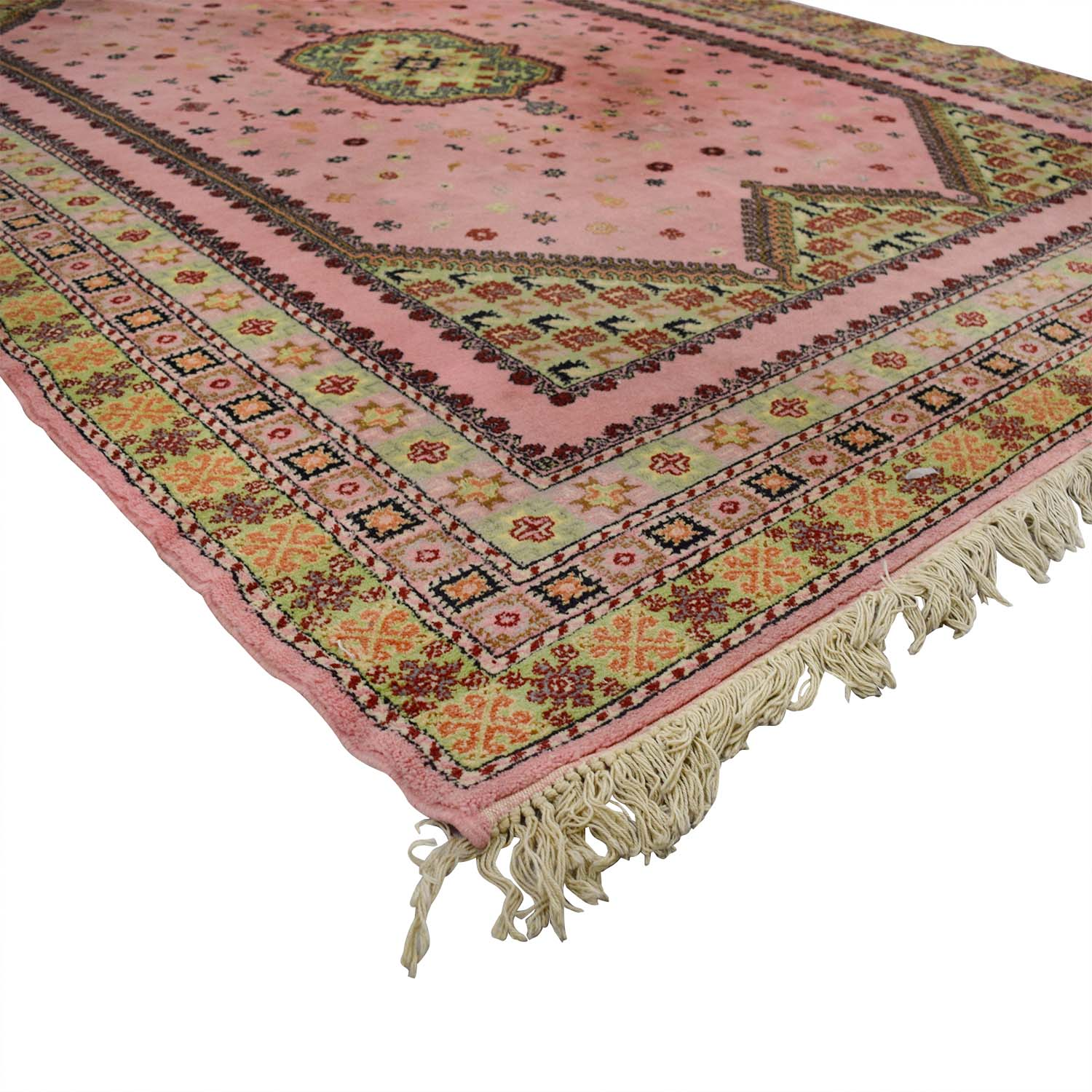 Pink And Beige Moroccan Rug / Decor