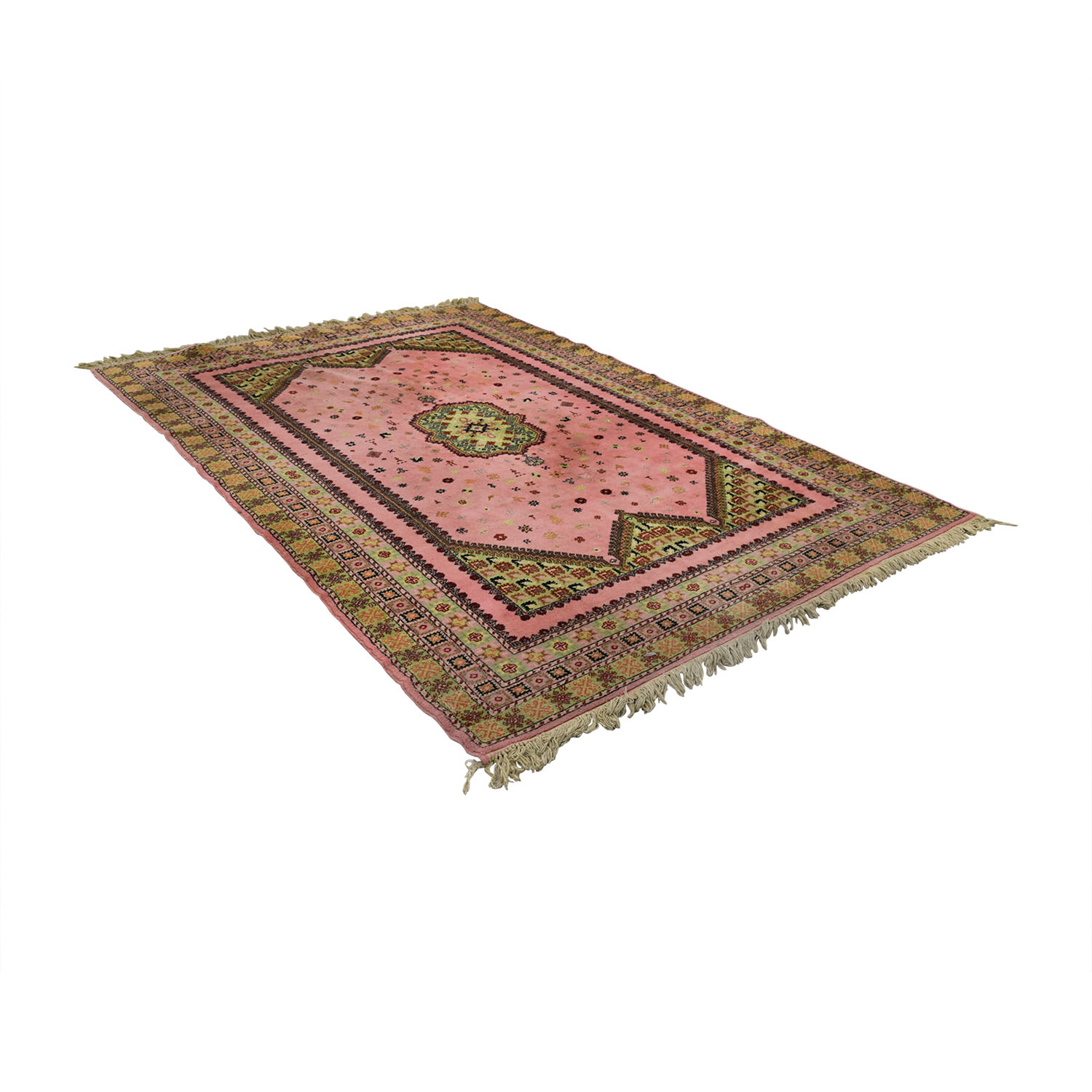 Pink and Beige Moroccan Rug coupon