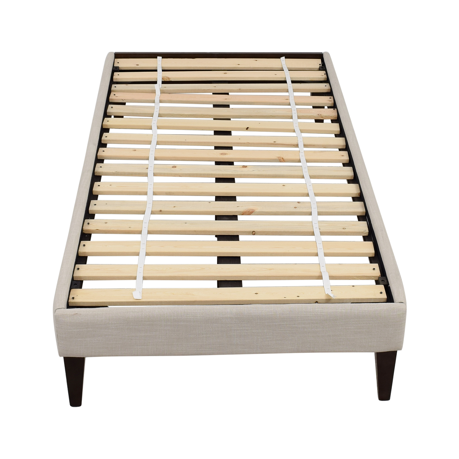42% OFF - West Elm West Elm Narrow Leg Upholstered Twin Bed Frame / Beds