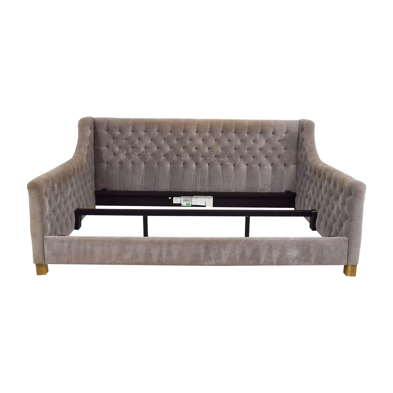 buy Restoration Hardware Devyn Fog Tufted Full Daybed Restoration Hardware Beds