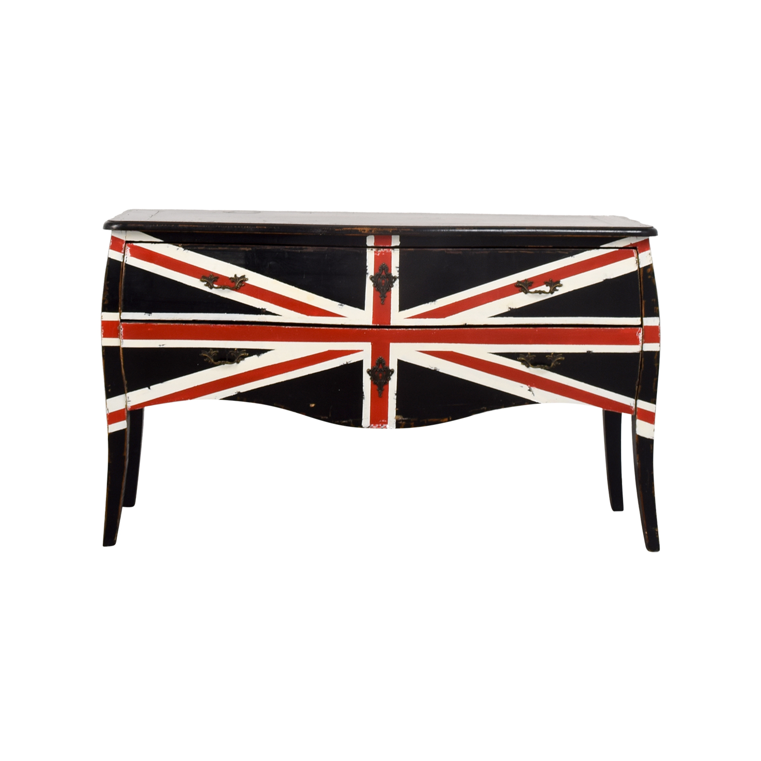 Painted Union Jack Two-Drawer Media Console price
