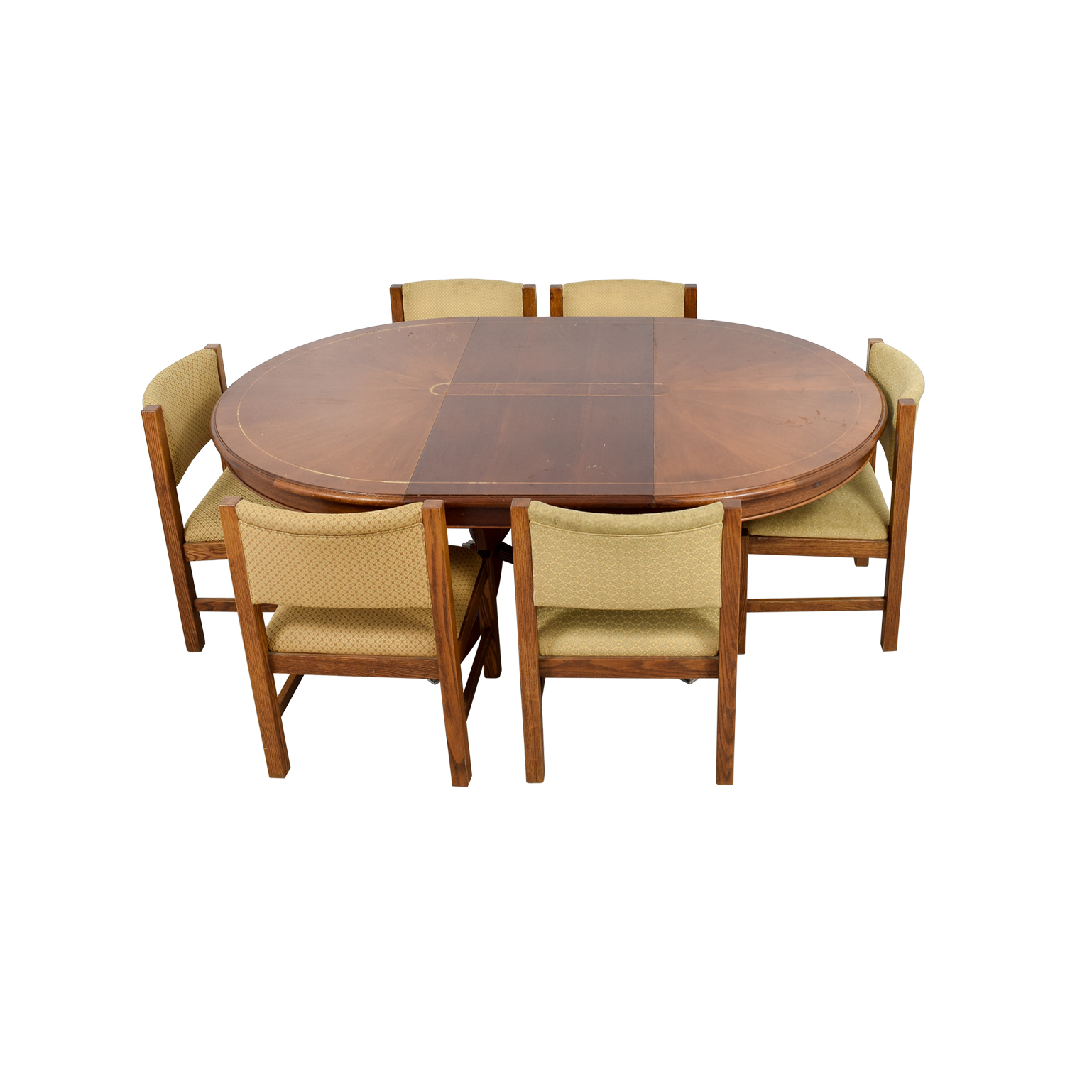 90 off pottery barn pottery barn yellow dining set tables. Black Bedroom Furniture Sets. Home Design Ideas