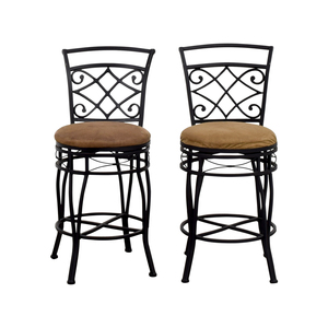 Brown Upholstered Bar Stools second hand