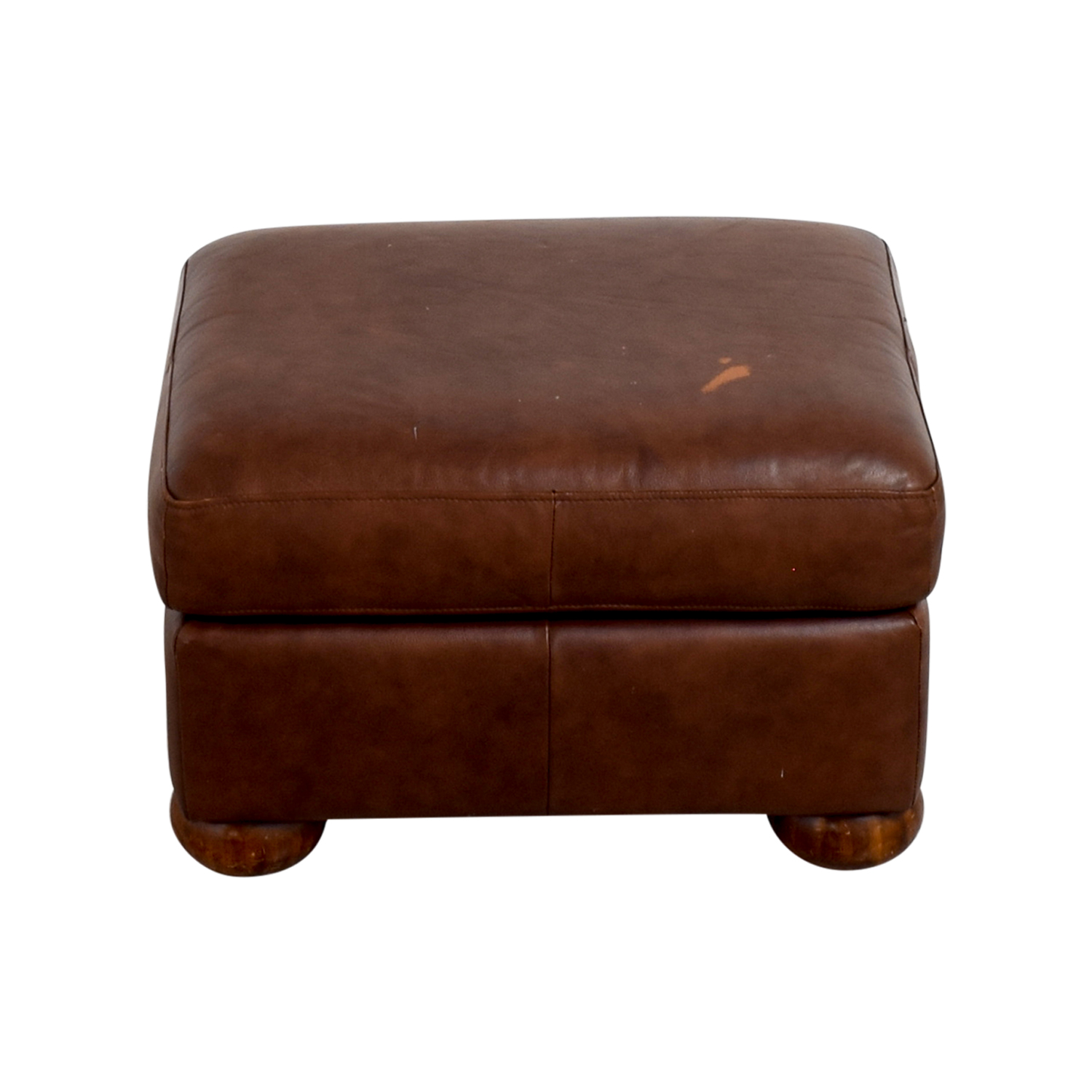 Leather Brown Ottoman on sale