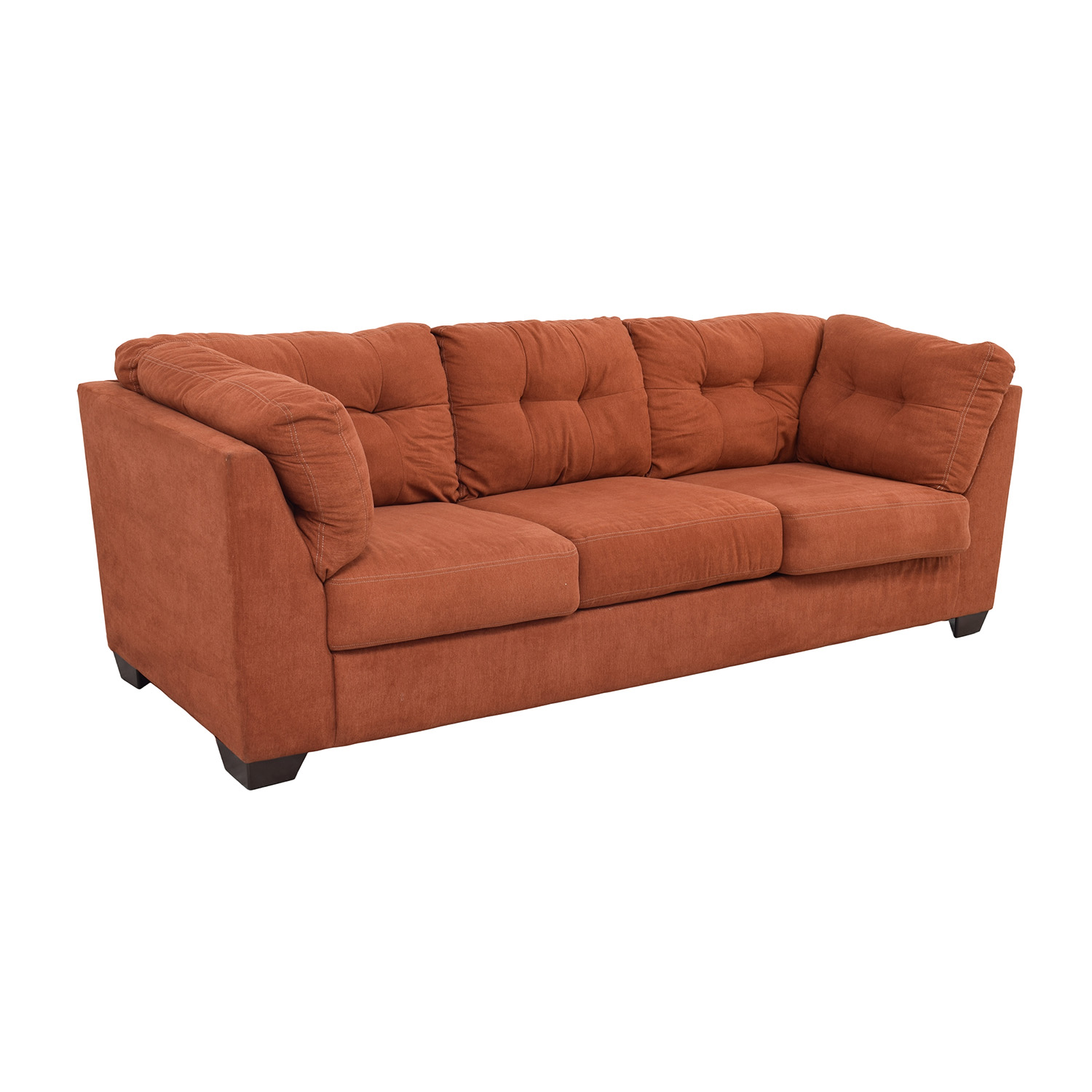 55% OFF Ashley Furniture Ashley Furniture Delta City Rust Tufted