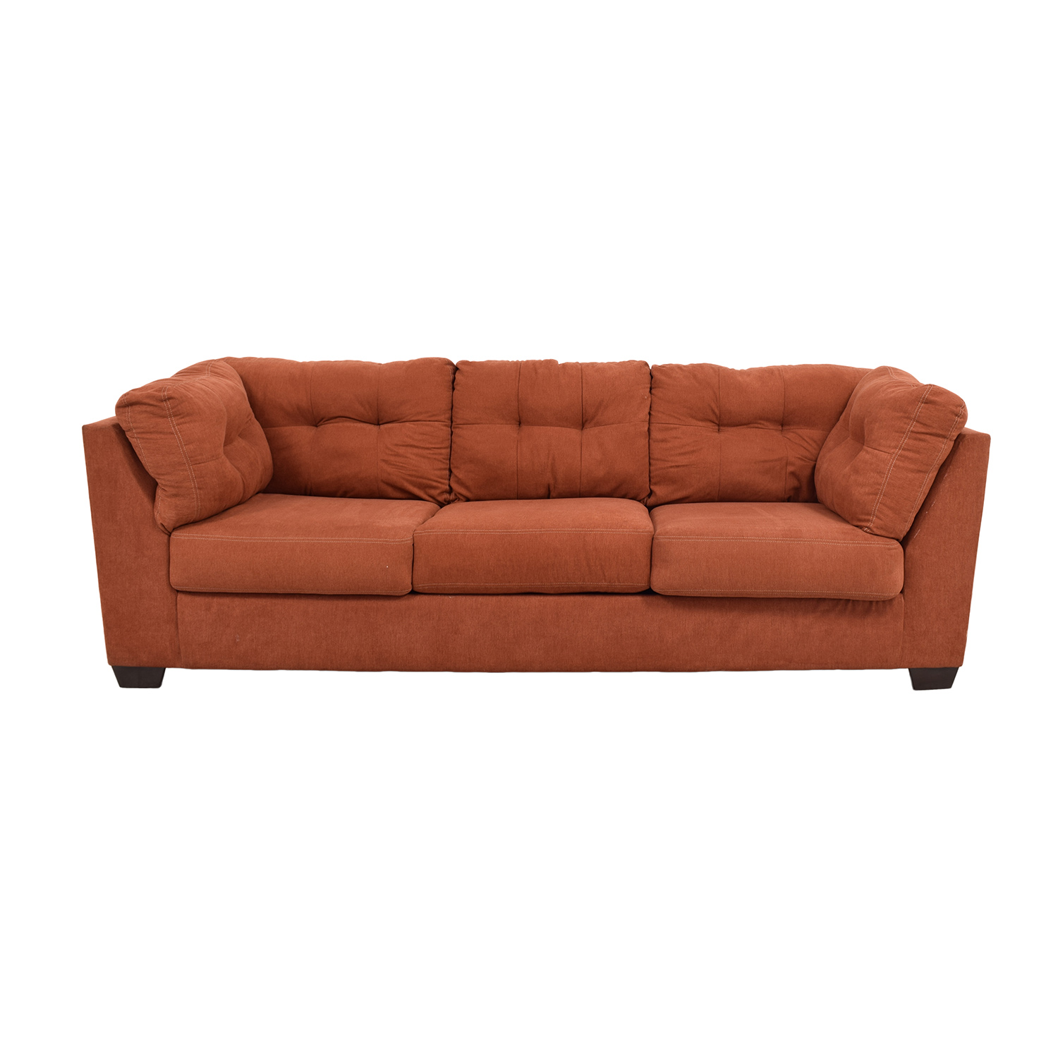 51% OFF Ashley Furniture Ashley Furniture Delta City Rust Tufted