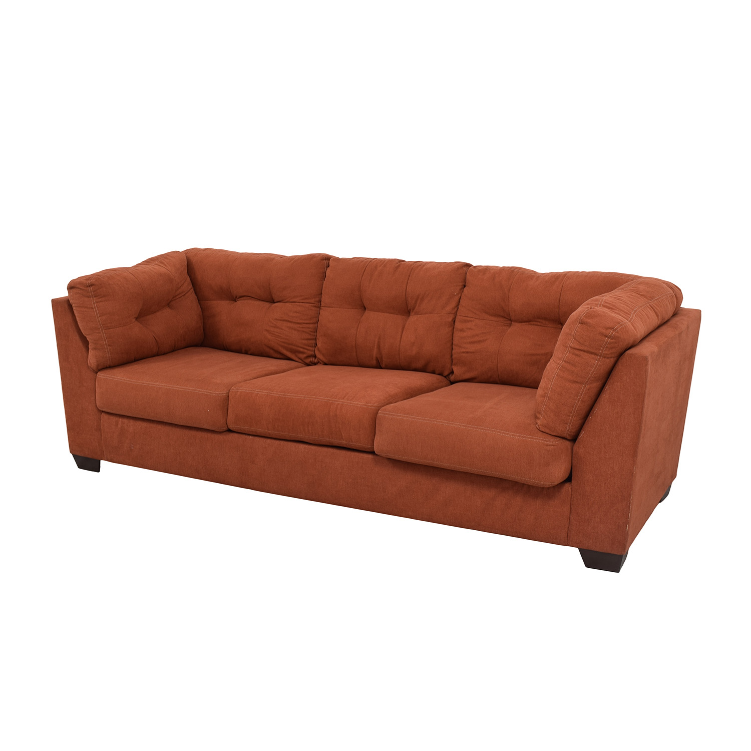 Ashley Furniture Delta City Rust Tufted Sofa For