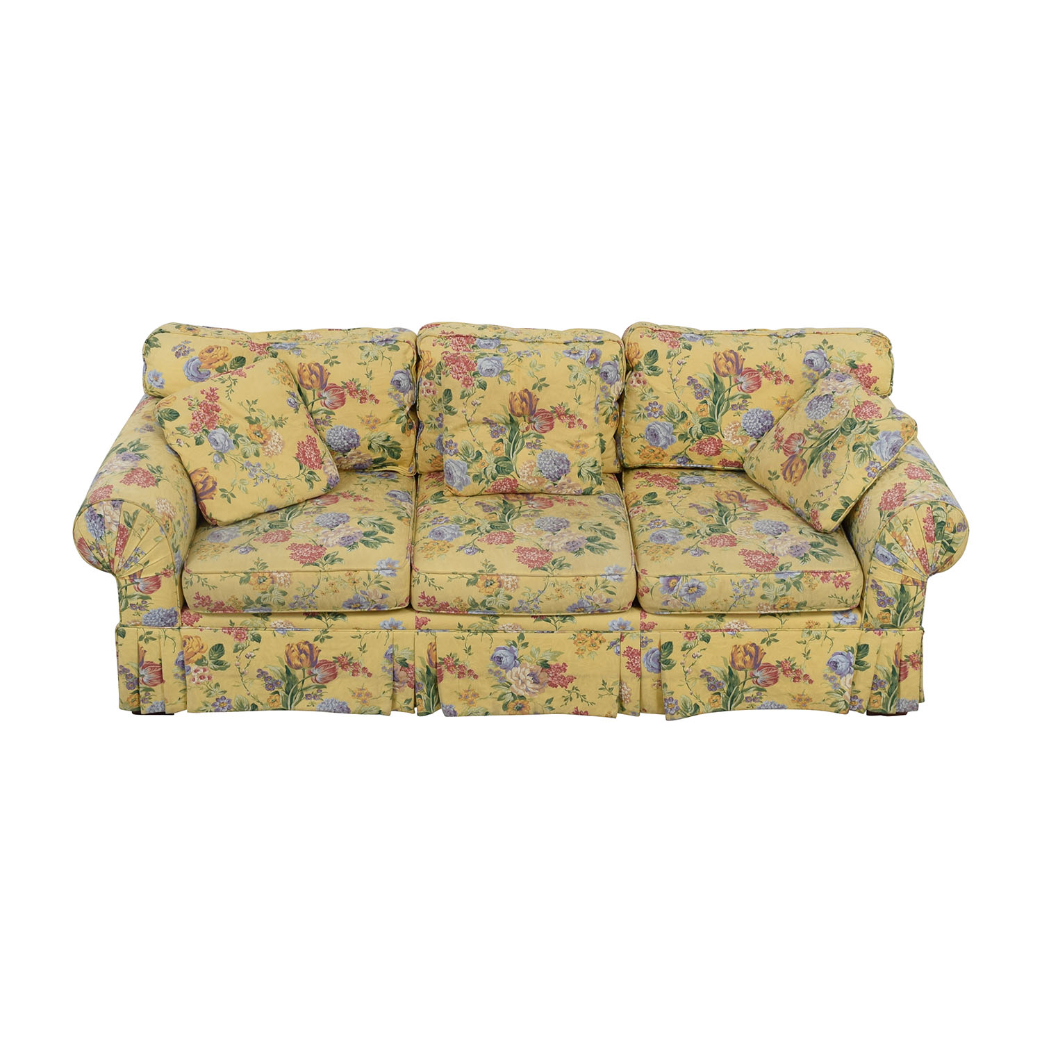 Alexvale Alexvale Yellow Floral Two-Cushion Couch nyc