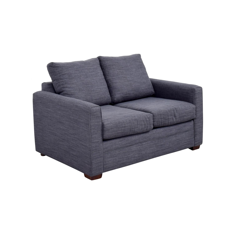 Bobs Furniture Navy Blue Love Seat / Sofas
