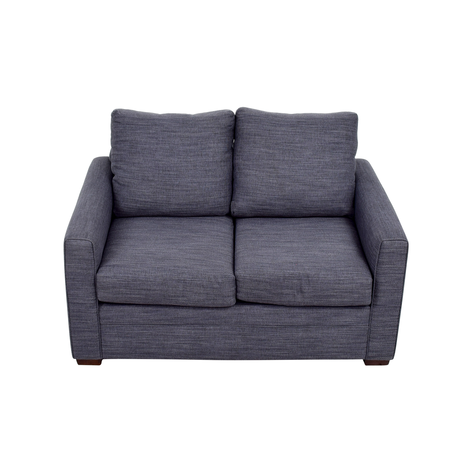 Bobs Furniture Bobs Furniture Navy Blue Love Seat for sale