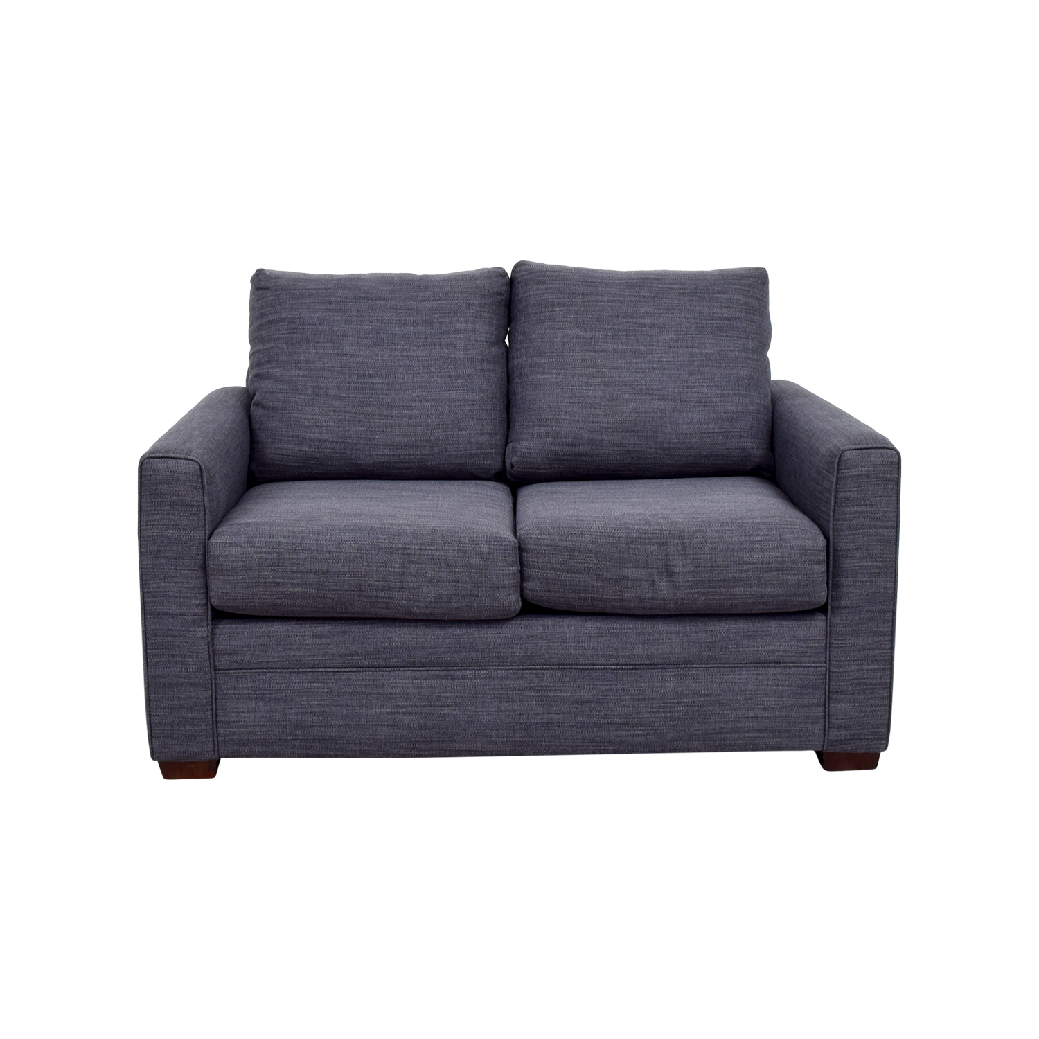 Bobs Furniture Bobs Furniture Navy Blue Love Seat price