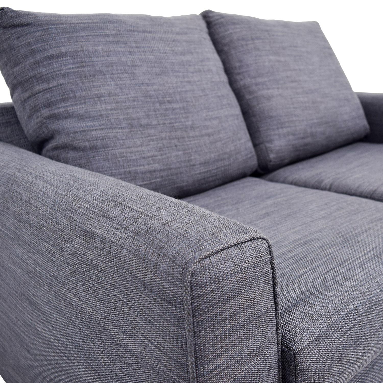 shop Bobs Furniture Bobs Furniture Navy Blue Love Seat online
