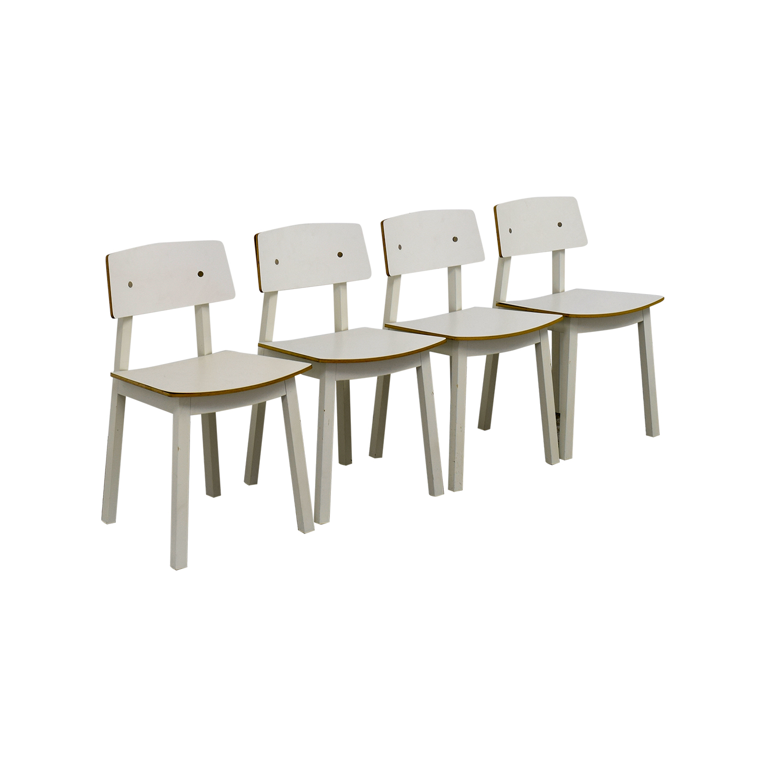 63 off ikea ikea white dining chairs chairs for Ikea dining sets usa