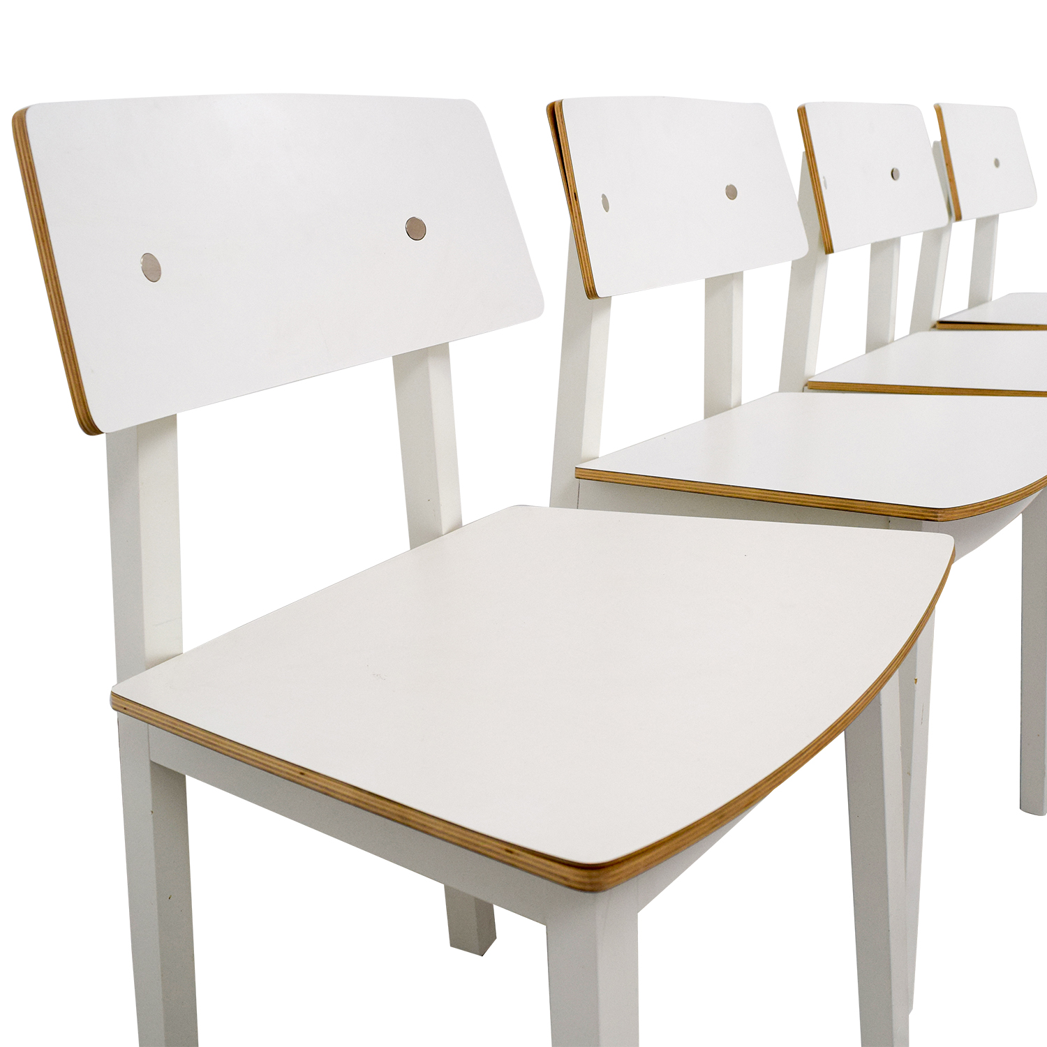 63% OFF IKEA IKEA White Dining Chairs Chairs