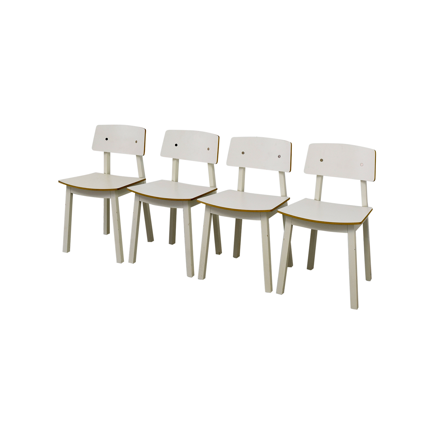 63 Off Ikea Ikea White Dining Chairs Chairs