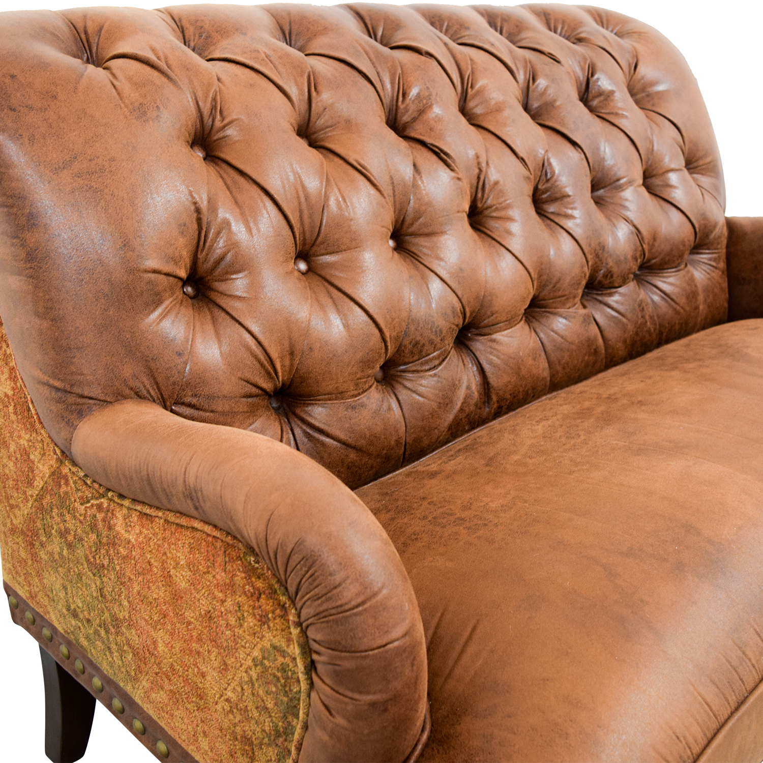 Surprising 36 Off Pier 1 Pier 1 Imports Faux Vintage Tufted Brown Leather Sofa Sofas Ncnpc Chair Design For Home Ncnpcorg