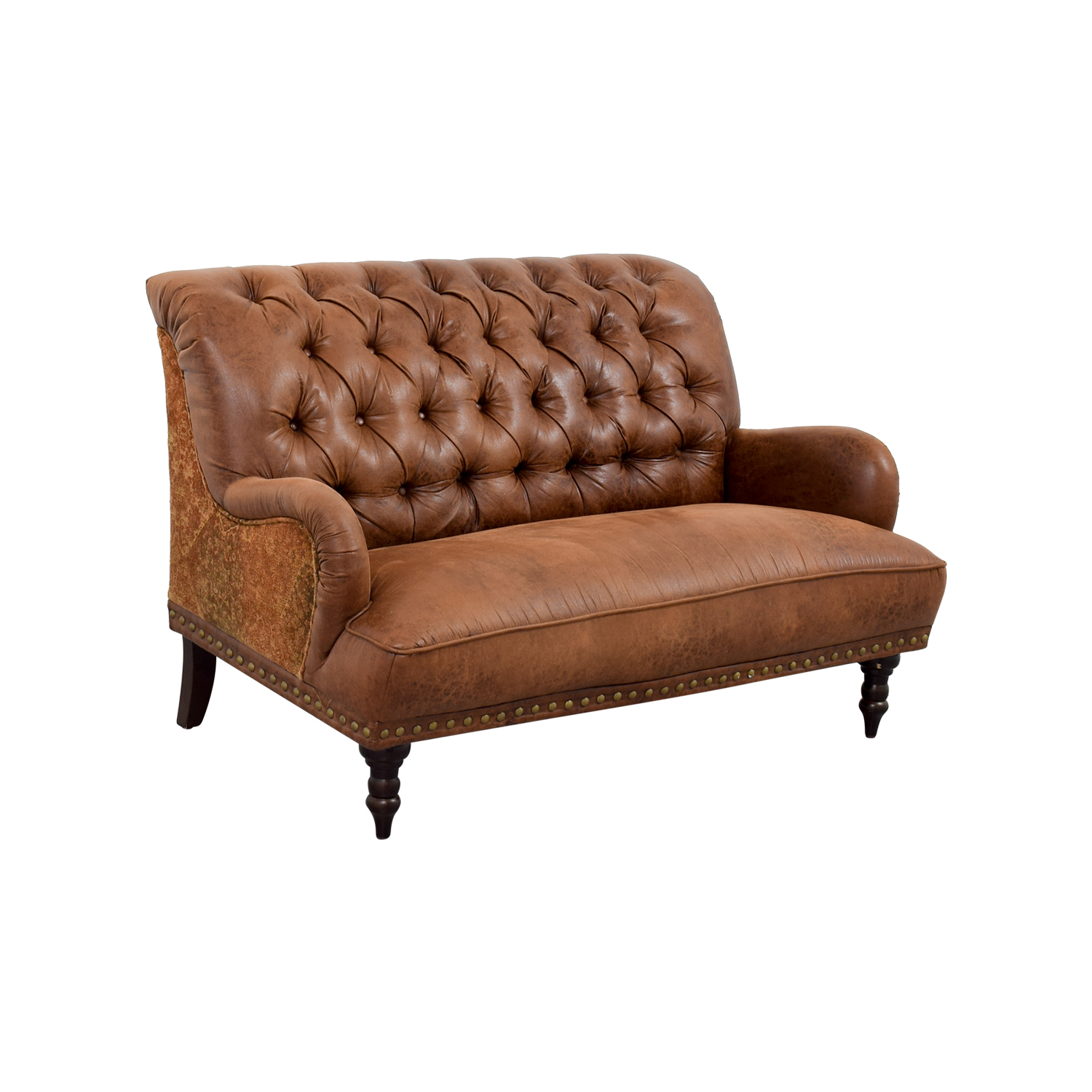 Pleasing 36 Off Pier 1 Pier 1 Imports Faux Vintage Tufted Brown Leather Sofa Sofas Ibusinesslaw Wood Chair Design Ideas Ibusinesslaworg