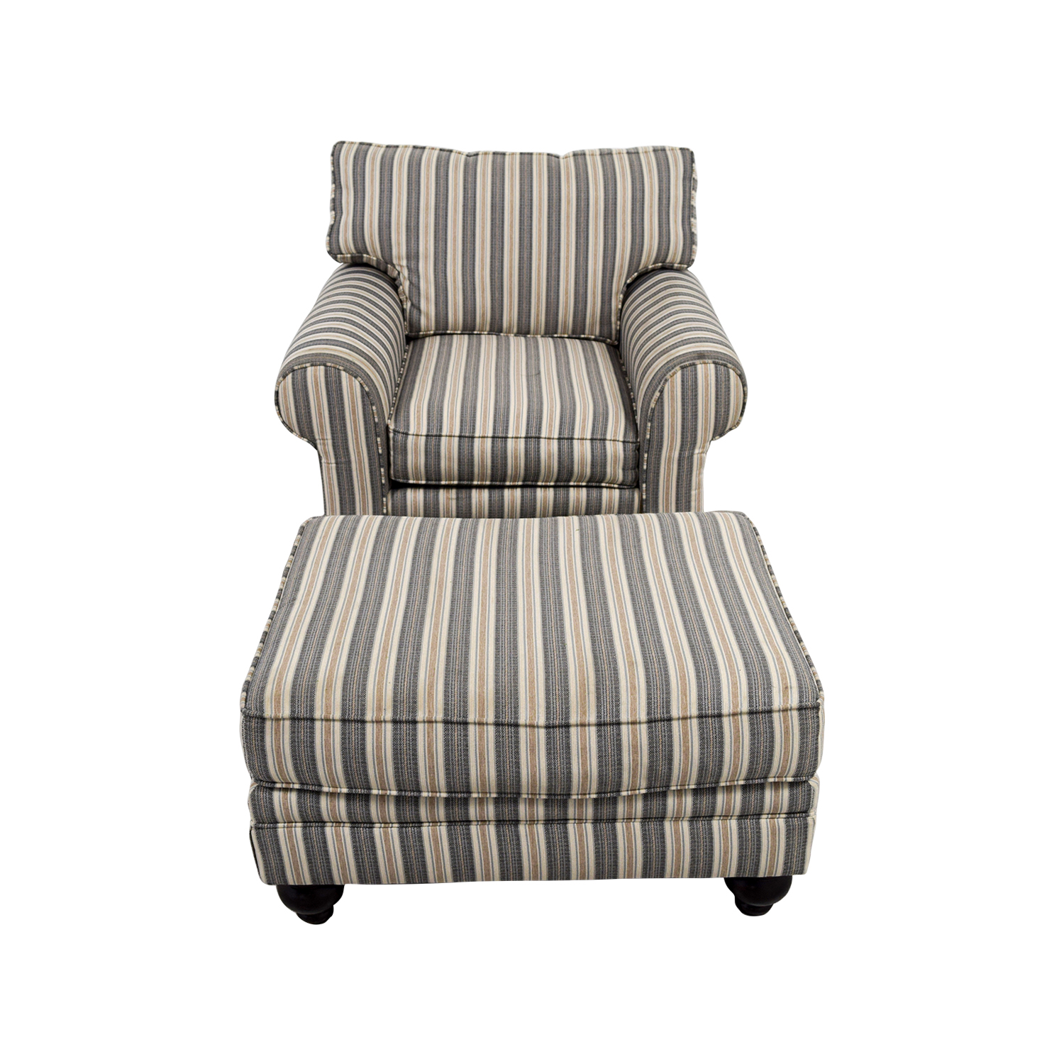 Bobs Furniture Sofa Chair with Ottoman Bobs Furniture