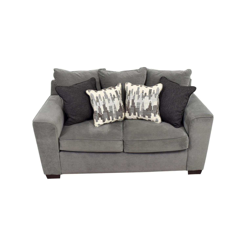 Bob's Furniture Bob's Furniture Grey Loveseat nj