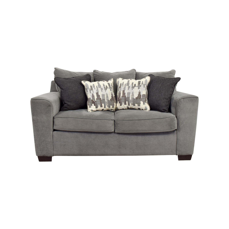 44 Off Bob S Discount Furniture Bob S Furniture Grey Loveseat Sofas