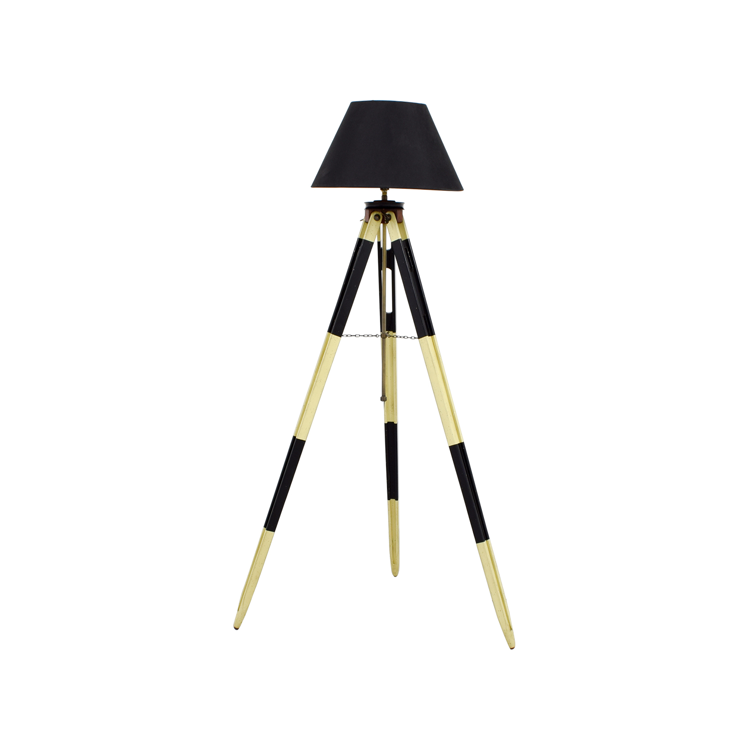 shop Authentic Models Surveyors Black and White Tripod Lamp Authentic Models Lamps