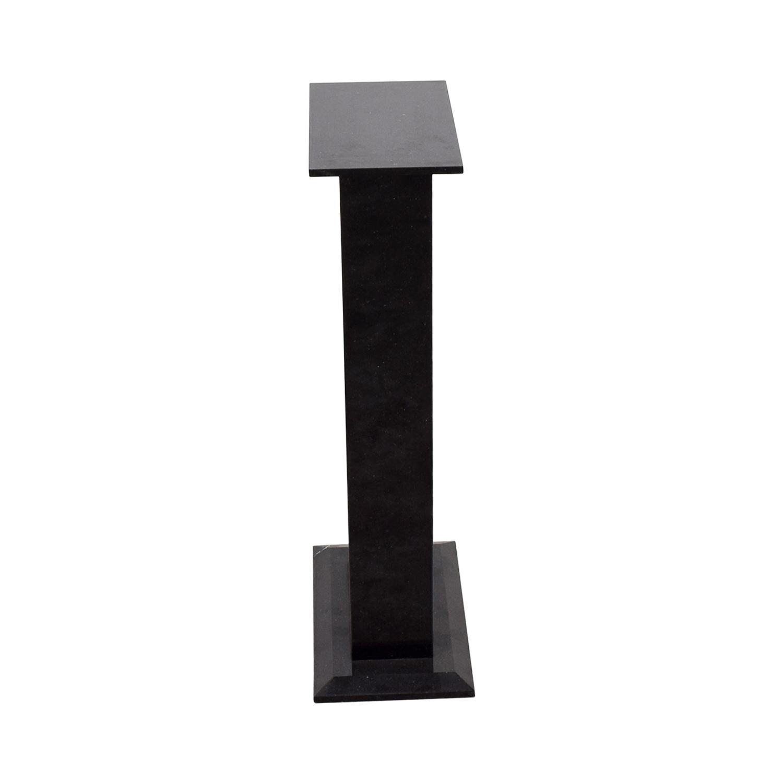 shop Black Art Stand Pedestal